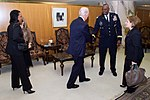 Former Secretary of State Baker Shakes Hands With CENTCOM Commander Army General Austin in Riyadh.jpg