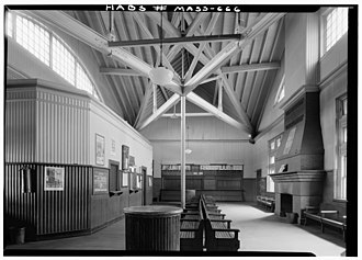 Framingham station - Interior of the station in 1959
