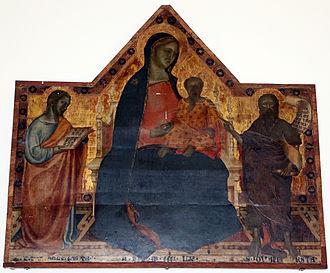 Francesco da Volterra - Madonna and saints, Pietrasanta