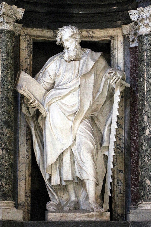 Francesco moratti, san simone, entro nicchia disegnata dal borromini, 02