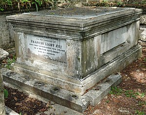Old Protestant Cemetery, George Town - Grave of Capt. Francis Light