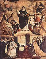 Le triomphe de saint Thomas d Aquin  , Francisco de Zurbarán, 1631, 475 x 375cm, Séville, Musée provincial des beaux-arts