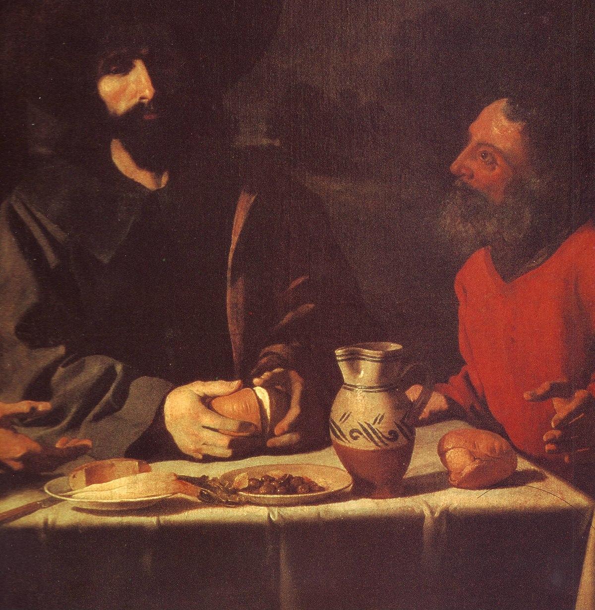 Francisco de Zurbarán La Cena de Emaús (excerpt) 1639.JPG