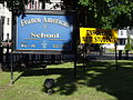 Franco American School sign; Lowell, MA; 2012-05-19.JPG