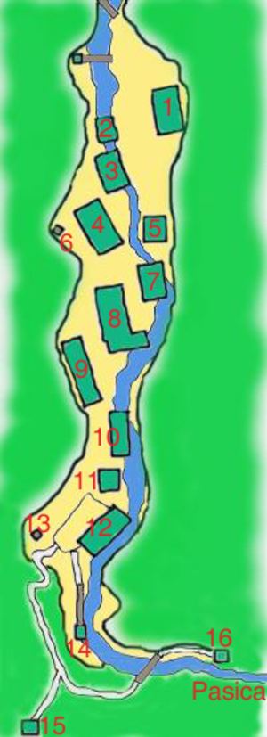 Franja Partisan Hospital - Image: Franja map
