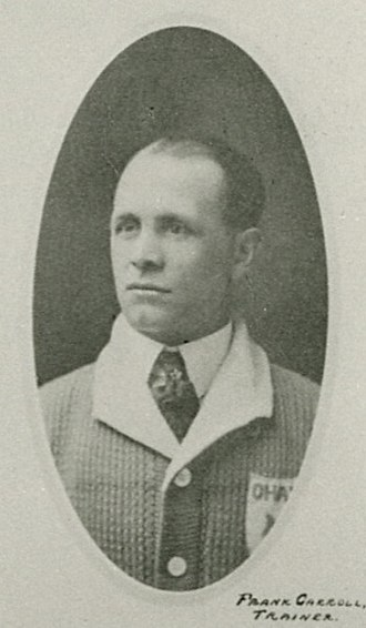 Frank Carroll (ice hockey) - Carroll in the 1917–18 season.