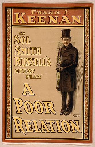 Frank Keenan - Poster for Keenan's performance of A Poor Relation (1900)