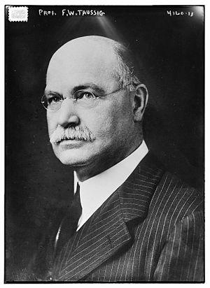 Frank William Taussig - Taussig circa 1915