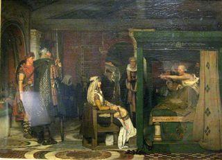 Frédégonde visitant Prétextat sur son lit de mort