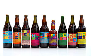"Remix culture - Various ""remixed"" Free Beer variants in recipe and label artwork, created since the first release in 2005 under a Creative Commons license."