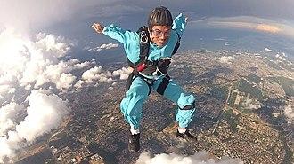 Freeflying - Freeflyer flying a sit in Manaus, Brasil.
