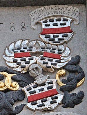 Johann Philipp Kratz von Scharffenstein - Kratz von Scharffenstein's Coat of Arms