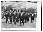French Ministers at Berteaux funeral. Caillaux, Cruppi, Perrier, Delcasse LOC 2163477842.jpg