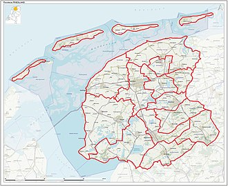 Friesland - Municipalities of Friesland