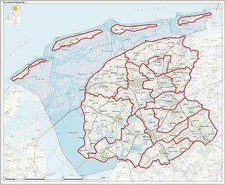 Friesland - Municipalities of Friesland