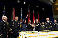 From left, U.S. Army Col. Arthur Wittich, Chief of Staff of the Army Gen. Ray Odierno, Secretary of Defense Chuck Hagel, Secretary of the Army John McHugh, Sergeant Major of the Army Raymond Chandler and Pfc 130613-D-BW835-226.jpg