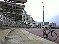 Fullon Hotel Tamsui Fishermen's Wharf and bicycles 20150419.jpg
