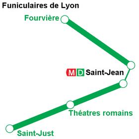 Схема маршрутов фуникулеров.