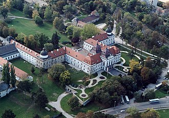 4th World Scout Jamboree - The Royal Palace of Gödöllő, Hungary, around which the 4th World Scout Jamboree was held.