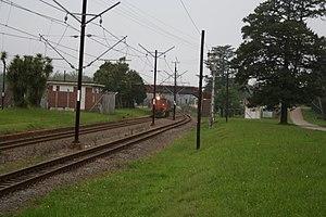 Balgowan, KwaZulu-Natal - A goods train approaching Balgowan station
