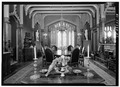 GENERAL VIEW OF DINING ROOM TO WEST - Lyndhurst, Main House, 635 South Broadway, Tarrytown, Westchester County, NY HABS NY,60-TARY,1A-57.tif