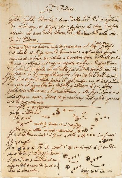 Galileo manuscript