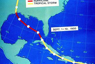 1900 Galveston hurricane - Hurricane track from September 1 to 10