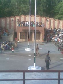 Full-length It is the snapshot of Ganda sing border kasur where the flag lowering ceremony is underway in feb 2010