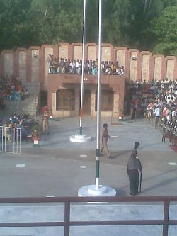 Flag lowering ceremony
