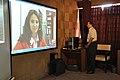 Ganga Singh Rautela Skyping With Natalie Batalha - Professional Enrichment Programme On Astronomy Awareness - NCSM - Kolkata 2011-09-20 5346.JPG