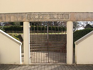 Abbey of Our Lady of Gethsemani - Gardens entrance gate.