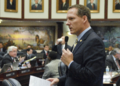 Gary Aubuchon offers support as the House brought it's version of the state budget to the floor Monday.png