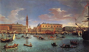 Venice - View of San Marco basin in 1697