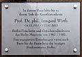Gedenktafel Knesebeckstr 68-69 (Charl) Irmgard Wirth.jpg