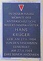 Gedenktafel Türrschmidtstr 16 (Rumbg) Hans Krüger.jpg
