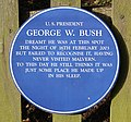 George W. Bush plaque, St. Ann's Well - geograph.org.uk - 1430812.jpg