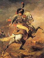 Officier de chasseurs à cheval de la garde impériale chargeant   (ou   Chasseur de la Garde  , 1812)