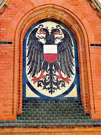 Coat of arms of Lübeck - Image: Germany Luebeck coats of arms mosaic