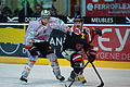 Gianni Ehrensperger (L), Christian Dubé (R) - Fribourg-Gotteron vs. HC Bienne, 25.11.2011.jpg