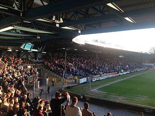 Gigg Lane Football stadium in Bury, Greater Manchester