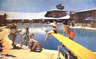 Desert Inn - Young women at the hotel pool in 1955