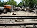 Gleisanschluss der Messetram in Freiburg an der Haltestelle Robert-Koch-Straße 15.jpg