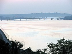 Goa Mandovi Bridge view from Ribandar 10-25-2008 6-14-02 PM.JPG