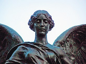 Nike (mythology) - Statue of the Goddess Nike on the ''Titanic'' Engineers' Memorial, Southampton