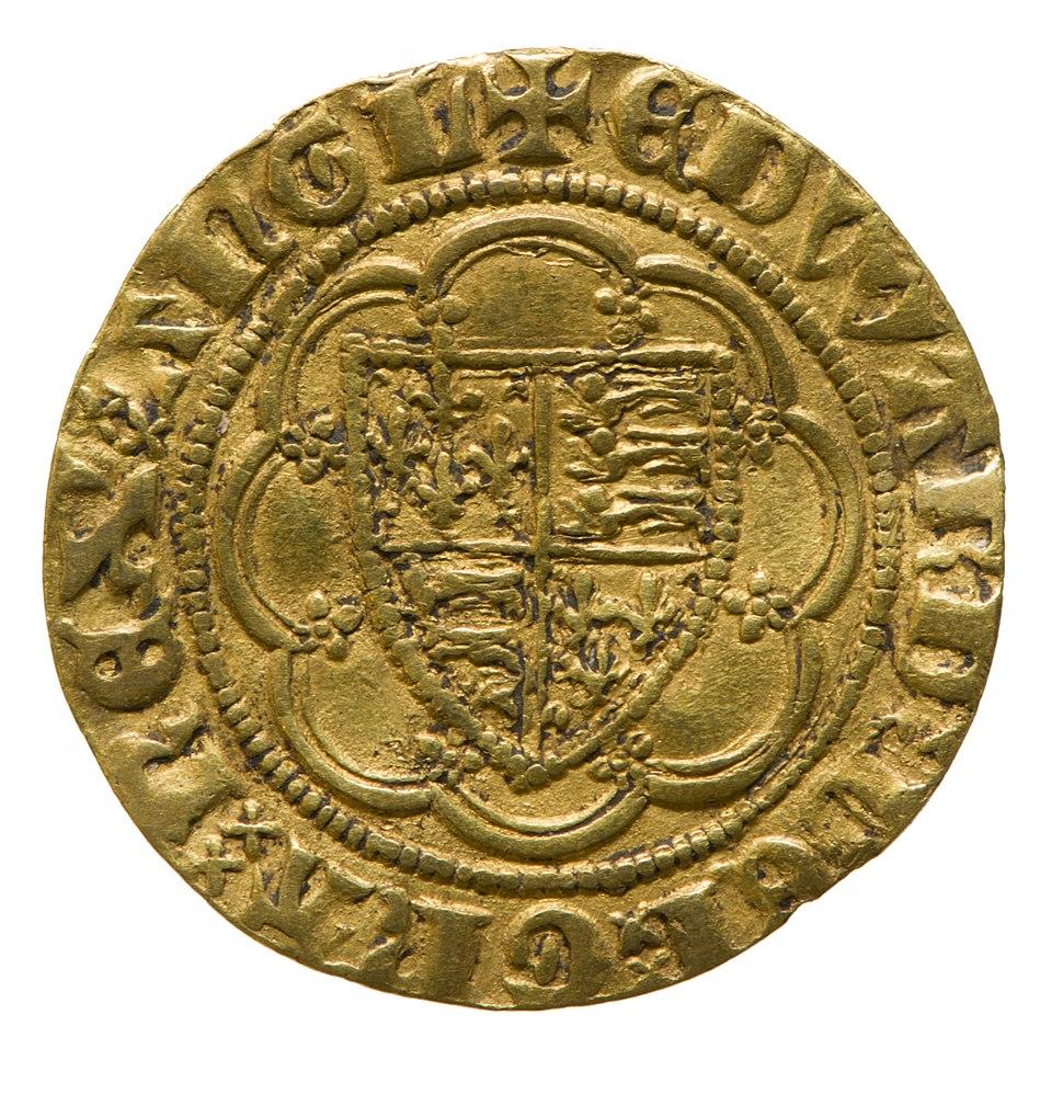 Gold quarter noble of Edward III (YORYM 2015 140) reverse