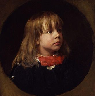 Goldsworthy Lowes Dickinson - Portrait of Goldsworthy Lowes Dickinson as a child in 1869 by his father