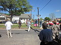 Goodchildren Easter 2012 S Roch Av Band Crossing.JPG