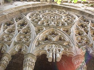 Old Cathedral of Lleida - Star of David, in the cloister of the Old Cathedral of Lleida.