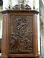 Gournay-en-Bray (76), collégiale St-Hildevert, croisée du transept, bas-relief - Descente de Croix, XVIIIe siècle 1.jpg