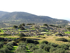 Gournia - View of the ruins at Gournia.